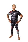 Bad to the Bones Men's Rash Guard Short Sleeve